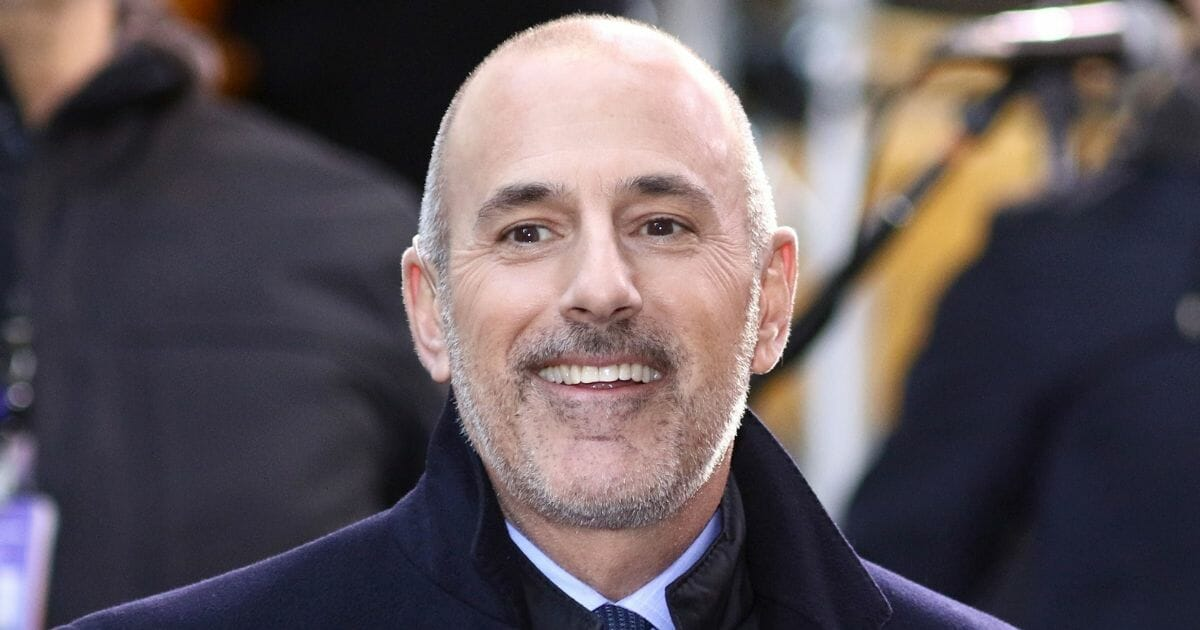 """Matt Lauer appears on NBC's """"Today"""" show on Nov. 17, 2017, in New York City."""