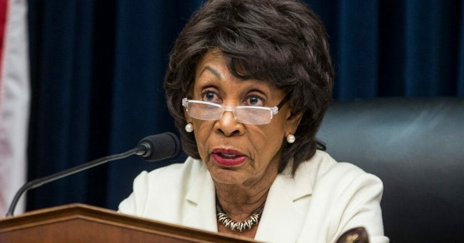 Maxine Waters speaks during a House Financial Services Committee Hearing on Capitol Hill on April 9, 2019, in Washington, D.C.