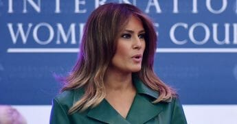 First lady Melania Trump speaks during the 2019 International Women of Courage awards ceremony at the State Department in Washington, D.C. on March 7, 2019.