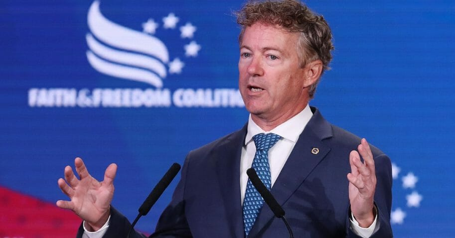 Kentucky Republican Sen. Rand Paul addresses the Faith and Freedom Coalition's Road to Majority Policy Conference at the Marriott Wardman Park Hotel June 27, 2019 in Washington, D.C.