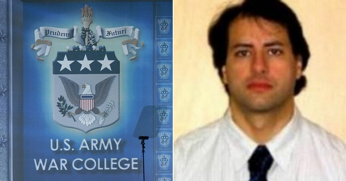 Broadcast speech at the US Army College on May 24, 2004, left, and Twitter profile picture of Ibrahim, right