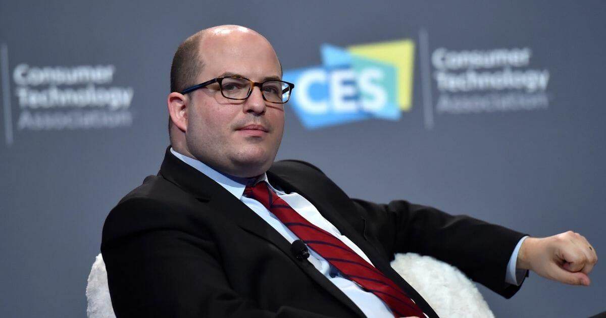 CNN's Brian Stelter speaks at CES 2019 in Las Vegas