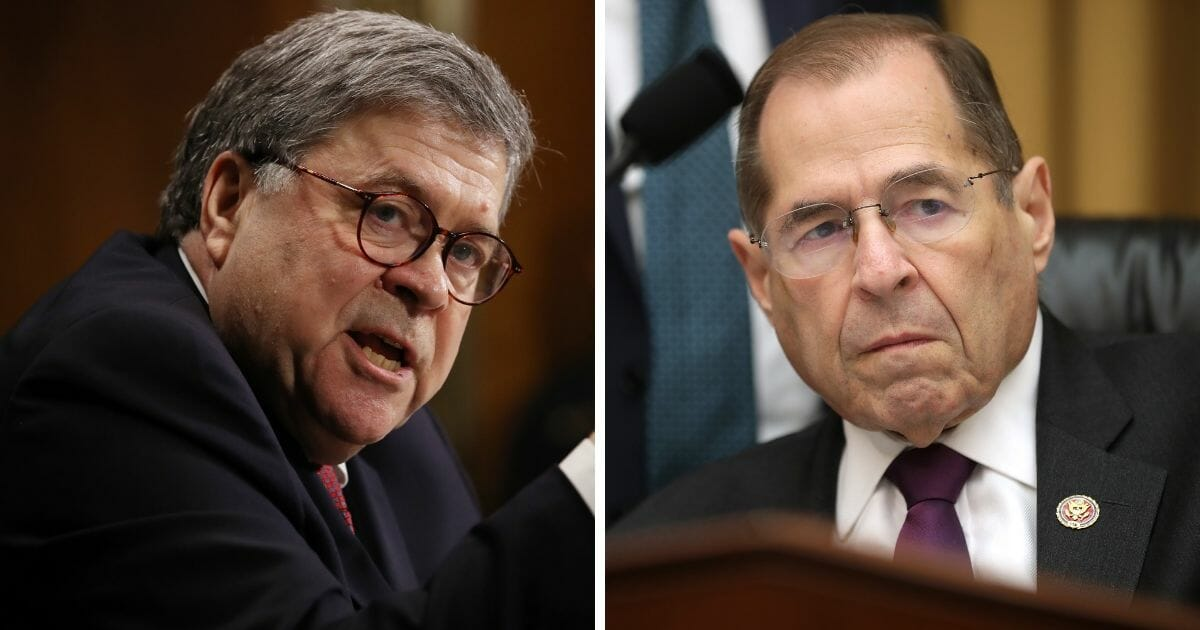 Attorney General William Barr, left; and U