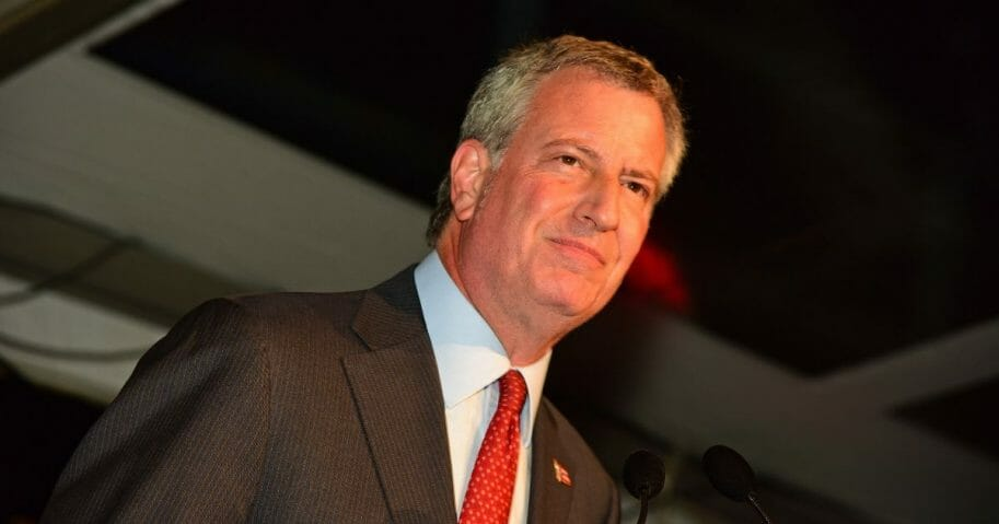 New York Mayor Bill ce Blasio.