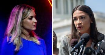 Conservative commentator Katie Pavlich, left; and Rep. Alexandria Ocasio, Cortez, right.