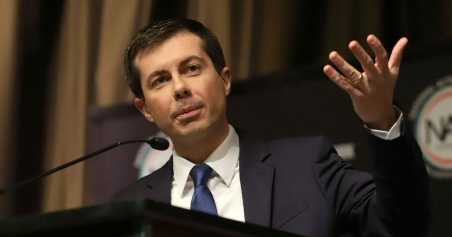 South Bend, Indiana, Mayor Pete Buttigieg speaks at the National Action Network Convention.
