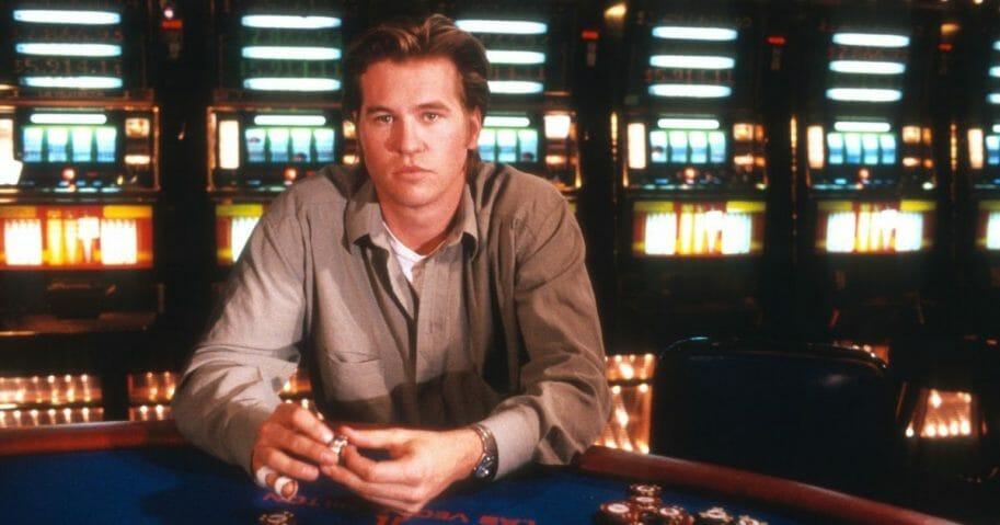 Val Kilmer films 'Kill Me Again' in a casino in Las Vegas Feb. 12, 1989, Las Vegas, Nevada.