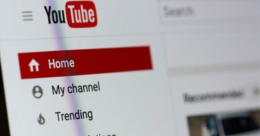 YouTube Homescreen