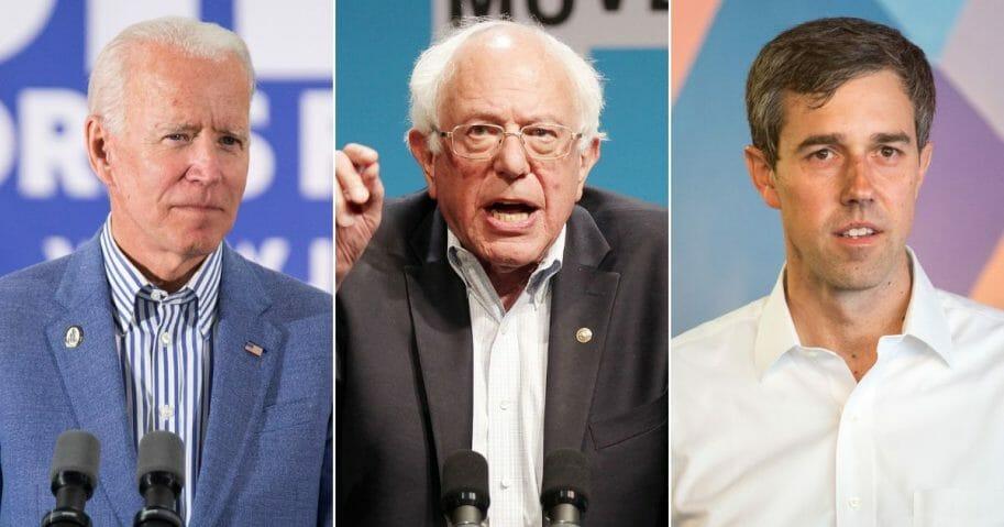 Former Vice President Bernie Sanders; Democratic presidential candidate Bernie Sanders; Democratic Presidential Beto O'Rourke.