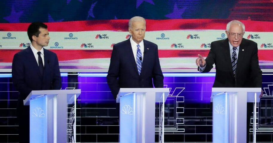Democratic presidential candidates in first presidential debate.