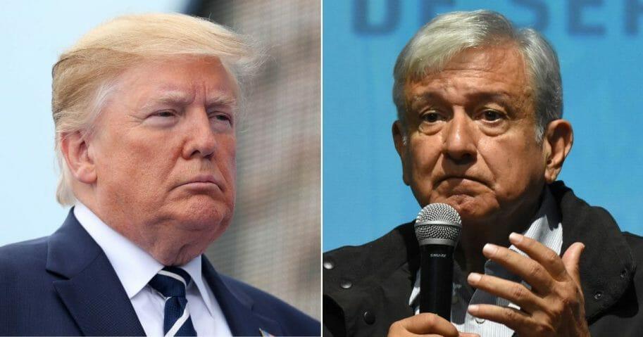 President Donald Trump; President of Mexico Andres Manuel Lopez Obrador