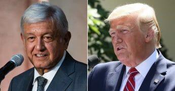 Mexican President Andrés Manuel López Obrador; President Donald Trump