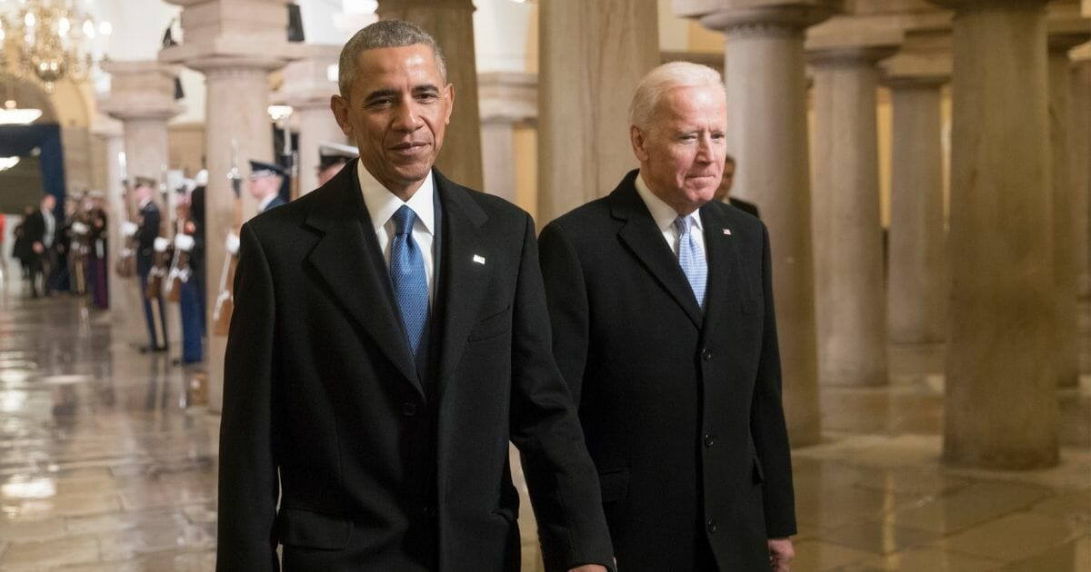 Former President Barack Obama and former Vice President Joe Biden.