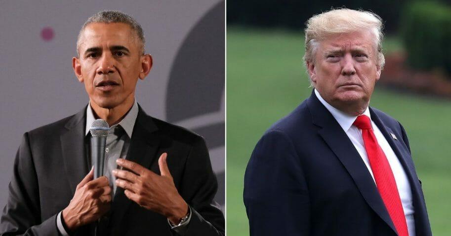 Former President Barack Obama; President Donald Trump