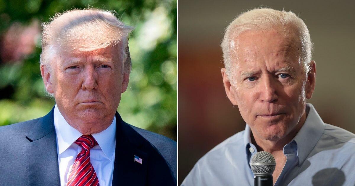 President Donald Trump; Former Vice President Joe Biden