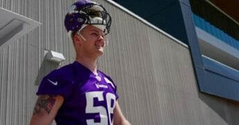 Austin Cutting in Vikings uniform.