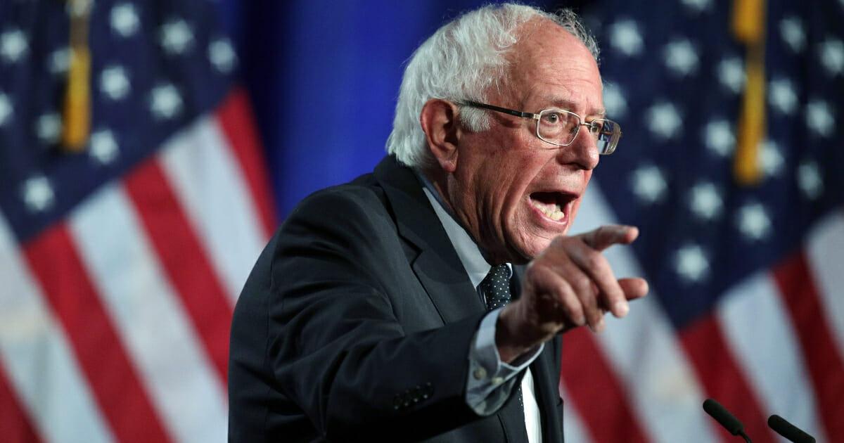 Democratic presidential hopeful and Sen. Bernie Sanders speaks on healthcare at George Washington University on July 17, 2019 in Washington, D.C.