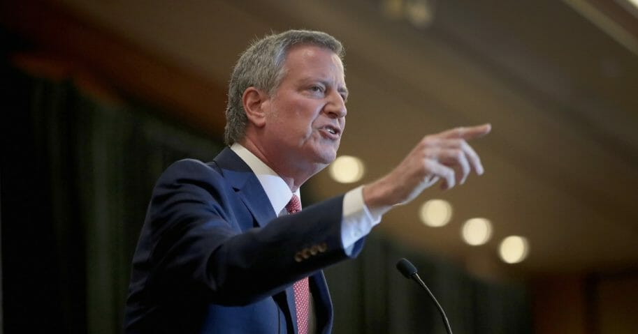 Democratic presidential candidate and New York City mayor Bill De Blasio speaks at the Rainbow PUSH Coalition Annual International Convention on July 1, 2019 in Chicago, Illinois.
