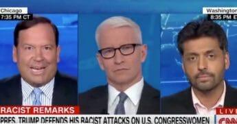 Three men on a panel on CNN