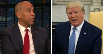 "New Jersey senator and 2020 Democratic presidential candidate Cory Booker said Monday he ""sometimes"" feels like punching President Donald Trump, who he referred to as ""out of shape"" and ""physically weak."""