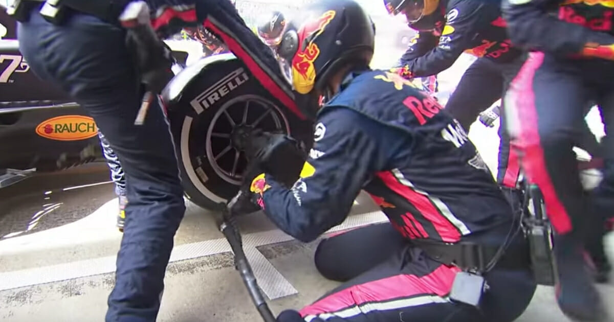 The Red Bull F1 team sets a world record for fastest pit stop at the British Grand Prix.