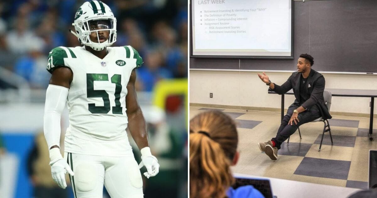 New York Jets Player Has Saved 90% of His Income, Teaches Financial Literacy to College Students