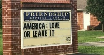 Friendship Baptist Sign