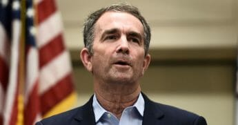 Virginia Governor Ralph Northam speaks to reporters June 1, 2019, in Virginia Beach.