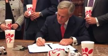 Texas Gov. Greg Abbott announced Thursday he had signed into law a bill that prohibits government entities from discriminating against businesses due to religious beliefs espouses by them or their owners.