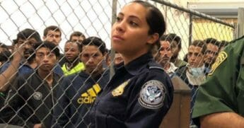 "A Latina Border Patrol agent is going viral on social media, with the hashtag ""ICEbae"" dividing social media users."