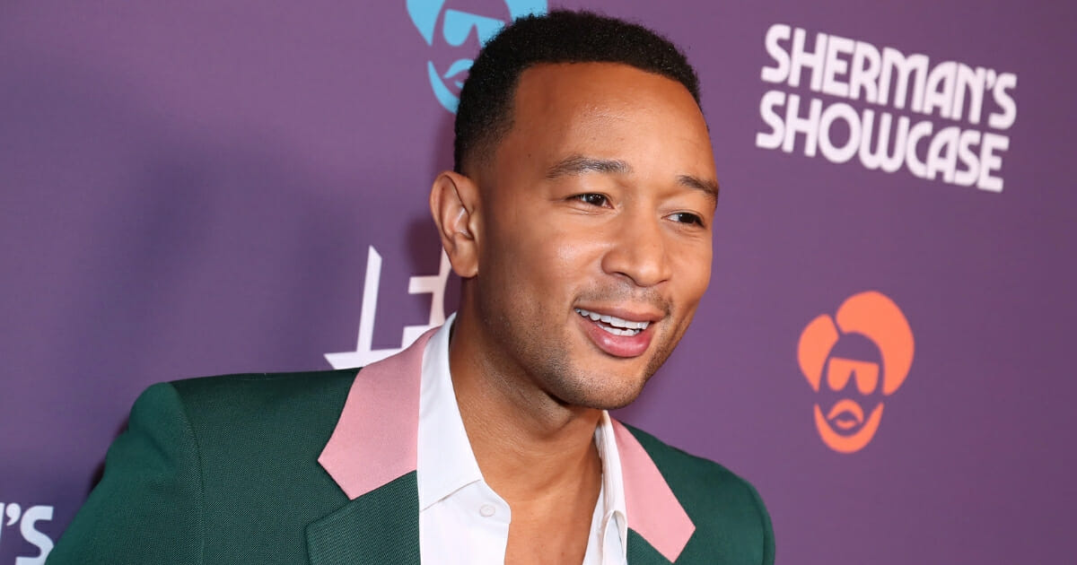 """John Legend attends the Los Angeles series premiere of IFC's new variety sketch show """"Sherman's Showcase"""" at The Peppermint Club."""