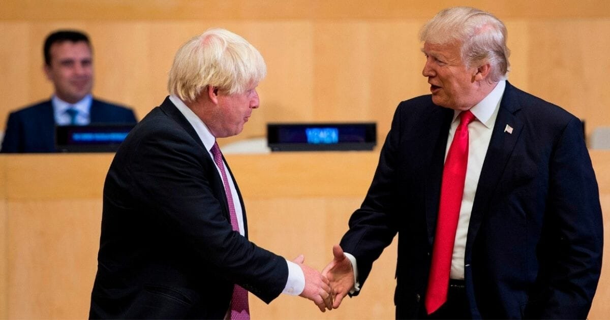 The Art of the Deal: Donald Trump and Boris Johnson Hammering Out 'Very Substantial Trade Agreement'