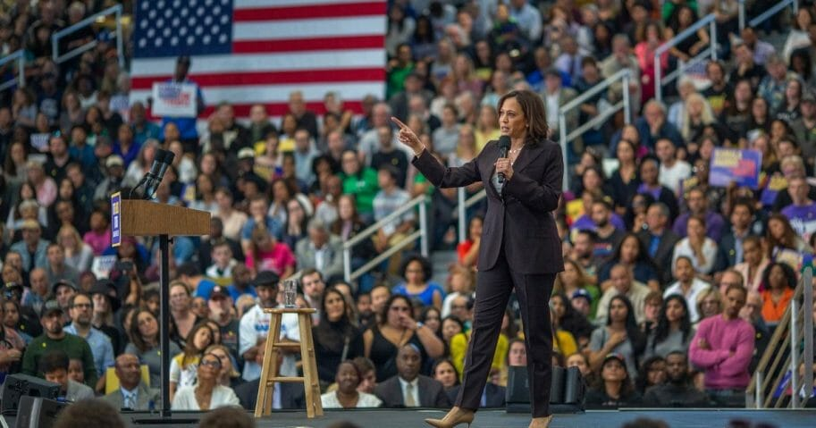 Democratic Sen. Kamala Harris appears at her first Los Angeles-area presidential campaign event on May 19, 2019, in Los Angeles, Calif.