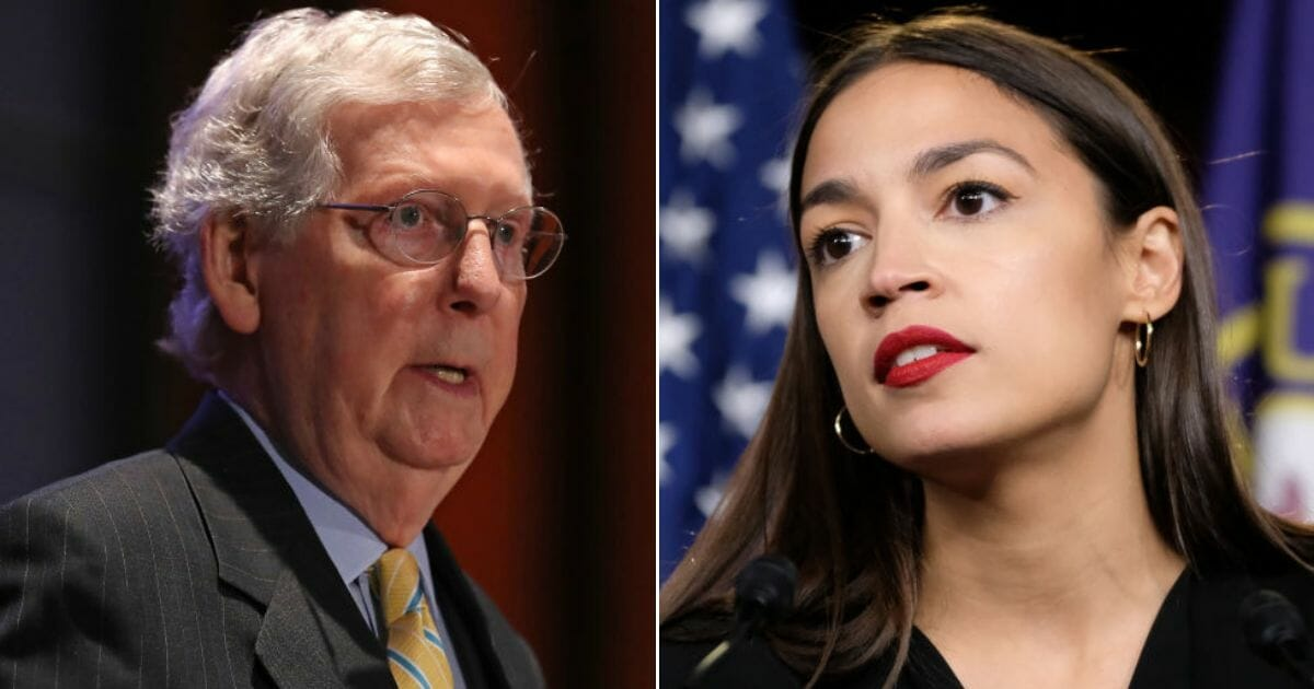 Ocasio-Cortez Slams McConnell as 'Complicit in Racism' After Attempts To De-escalate Tensions