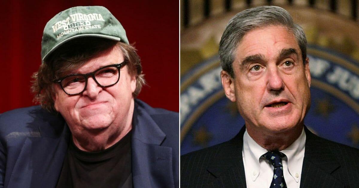 Filmmaker Michael Moore; Robert Mueller