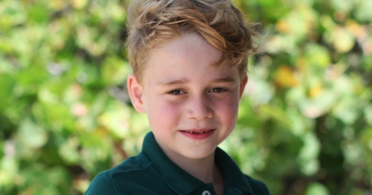 Prince George on his sixth birthday.