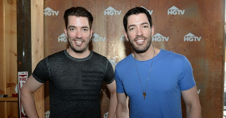 Property Brothers hosts Jonathan Scott (L) and Drew Scott appear at the HGTV Lodge during CMA Music Fest on June 13, 2015, in Nashville, Tennessee.