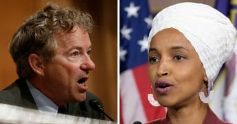 "Kentucky Republican Sen. Rand Paul, left, blasted Minnesota Democratic Rep. Ilhan Omar, right, claiming she's ""unappreciative"" of the country that welcomed her as an immigrant and elected her to Congress."