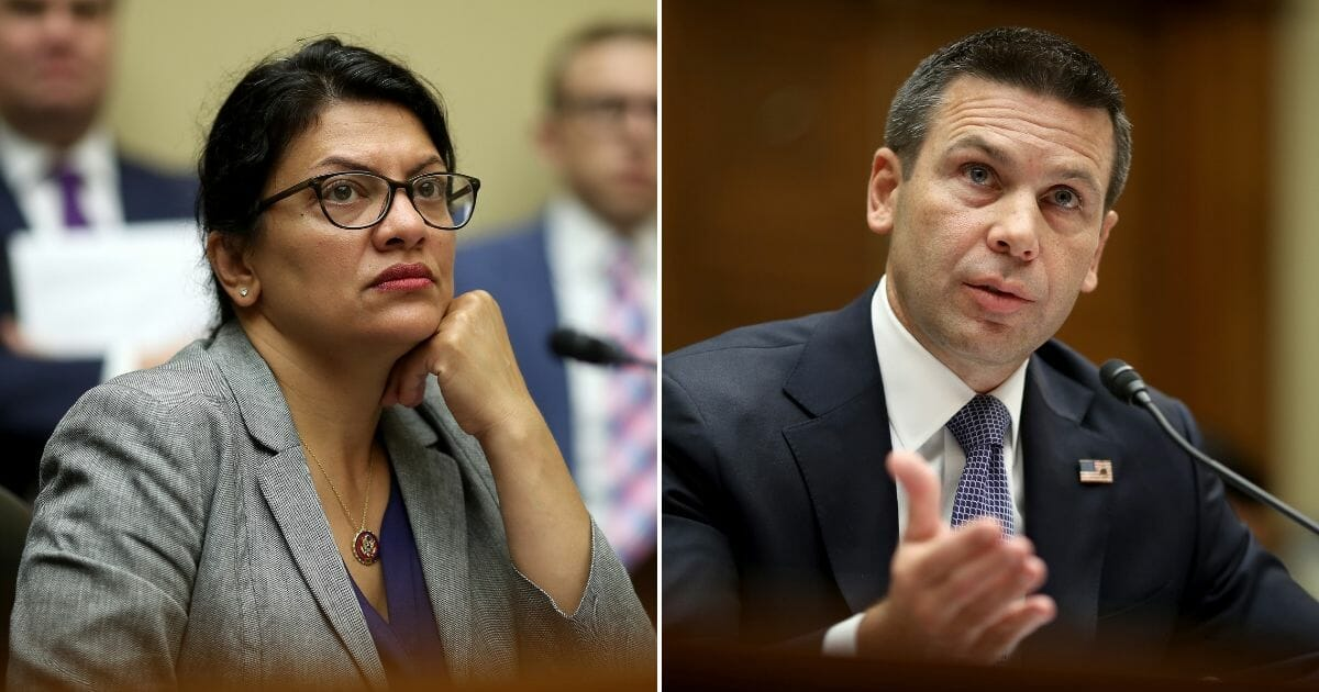 DHS Chief Corrects Tlaib After She Accuses Trump Admin of Wanting To Detain Migrant Children