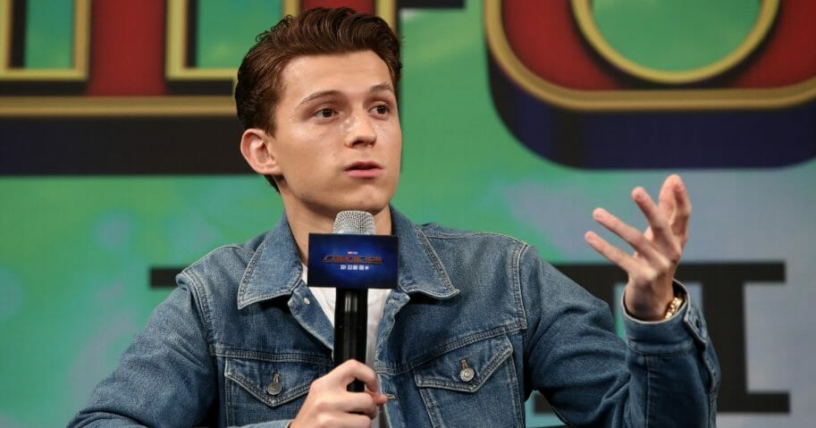 Actor Tom Holland attends the news conference for the South Korean premier of 'Spider-Man: Far From Home' on July 1, 2019 in Seoul, South Korea.