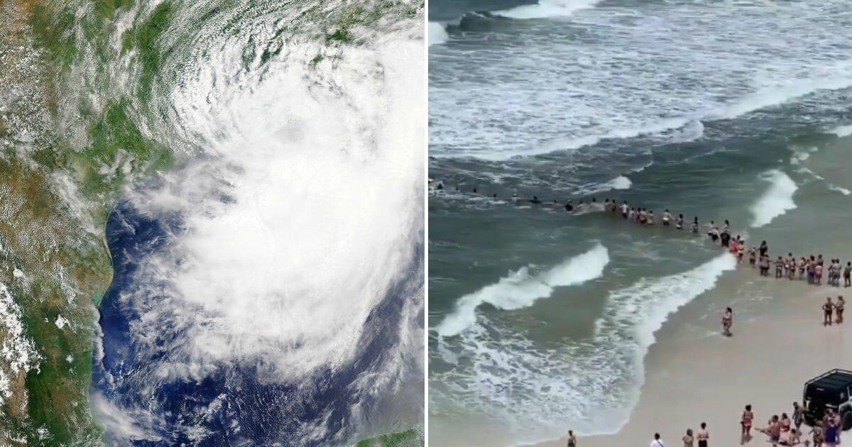 Tropical Storm Human Chain