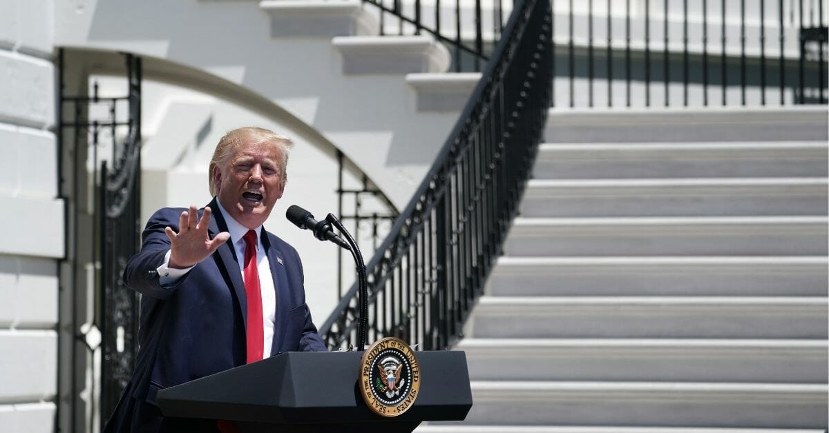 President Donald Trump tours his 'Made in America' product showcase at the White House July 15, 2019 in Washington, D.C.