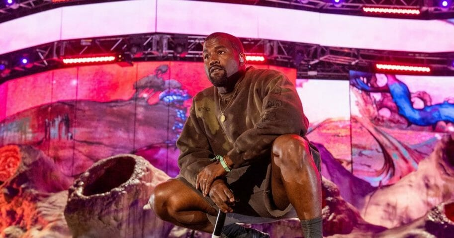 Kanye West performs during 2019 Coachella Valley Music And Arts Festival on April 20, 2019 in Indio, California.