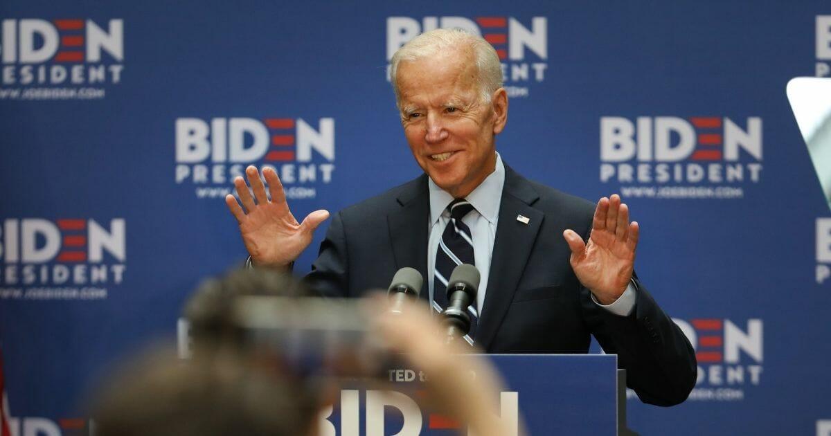 Joe Biden gives a speech on foreign policy.