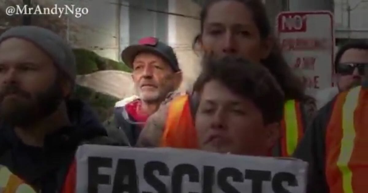Antifa member Willem Van Spronsen, pictured in the black hat, attacked an ICE facility on July 13th