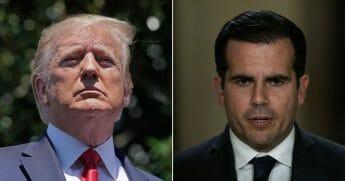 Puerto Rican Governor Ricardo Rossello, right, faces calls to resign
