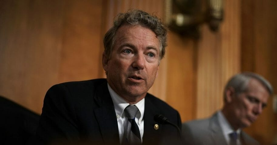 Kentucky Sen. Rand Paul speaks during a Senate Foreign Relations Committee hearing
