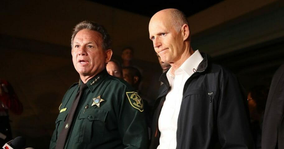 Embarrassment continues to pile on for Florida's Broward County Sheriff's Office and former Sheriff Scott Israel, left