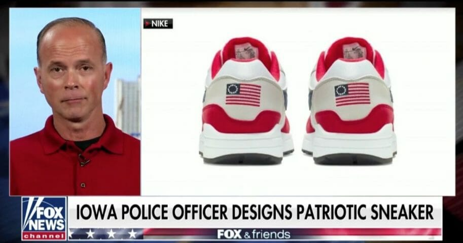 "Iowa police officer Ron Slagle appears on ""Fox and Friends"""