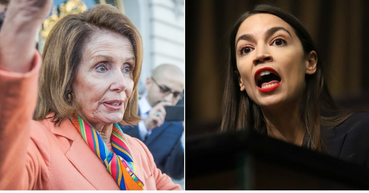 House Speaker Nancy Pelosi, left, and New York Rep. Alexandria Ocasio-Cortez, right, have clashed over the future of the Democratic party